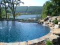 Infinity Pool At Custom Luxury Home Built Above Lehigh Valley PA.