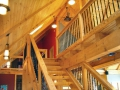 Timber Frame Home Interior Built By Service Construction Co. Inc Serving Lehigh Valley, Poconos, Eastern PA.
