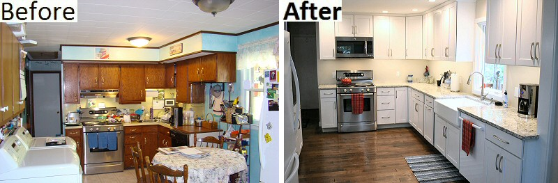 Kitchen Remodeling Before And After Pics Lehighton Pennsylvania Service Construction Co.