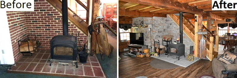 Log Home Remodeling Before And After Pictures Pennsylvania