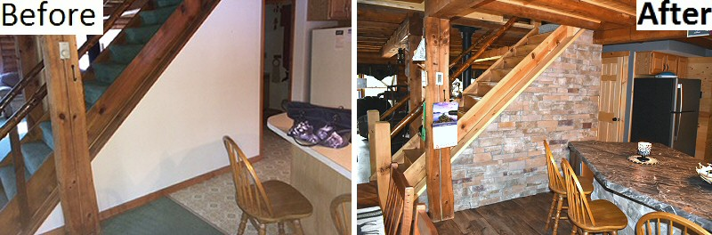Before After Pictures Log Cabin Home Renovation Remodel Pennsylvania Lehigh Valley Poconos