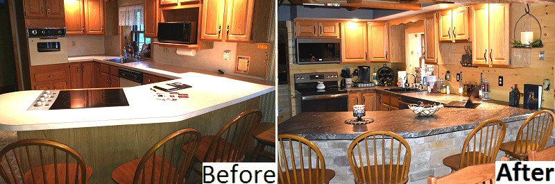 Log Cabin Home Remodeling Before and After Pictures