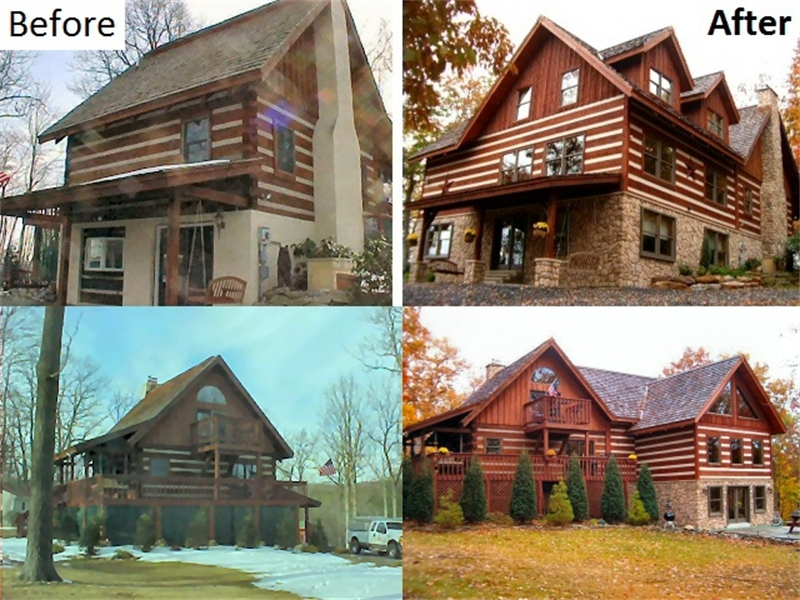 Log home builder lehigh valley poconos pa log home for Unique home additions