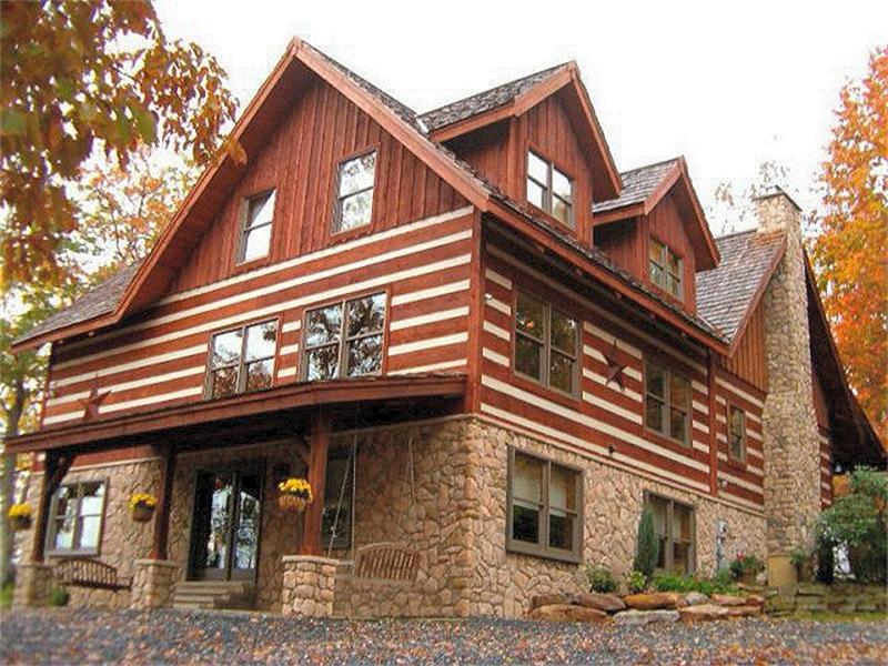 Log home builder lehigh valley poconos pa log home for Custom home addition
